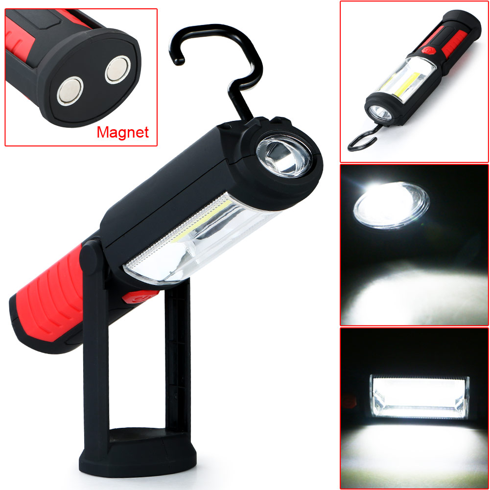 Lanterna Portable COB LED WorkLight Inspection LampHand Tool Garage Flashlight Torch Led Worklight Magnetische For Camping Light