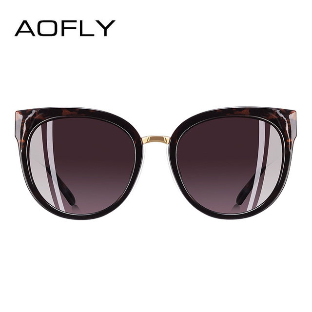 AOFLY BRAND DESIGN Hand Made Luxury Cat Eye Sun glasses For Women Polarized Sunglasses Goggles UV400 A138 2