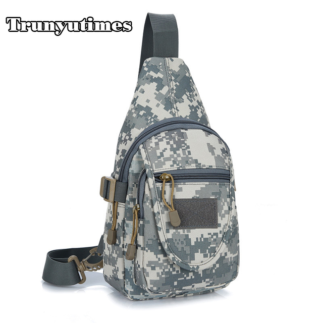 Trunyutimes Fashion Camouflage Bag Small Sling Backpack For Women Men Nylon Chest Crossbody Travel