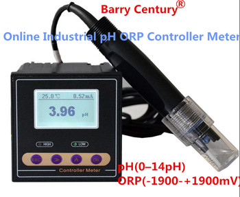 PH-110 Online Industrial pH ORP Controller Tester Meter Monitor pH(0-14 pH) ORP(-1900-+1900 mV)