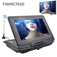 TRANSCTEGO DVD Oynatıcı Taşınabilir Araba TV 13.9 Inç Büyük oyuncular LCD Ekran Gamepad ile Oyun FM için DVD VCD CD MP3 MP4 TV Anten