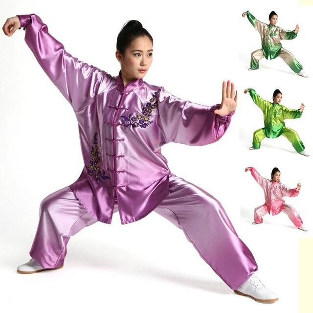 Женский Тай-чи одежды вышивка ушу одежда градуированных Тайцзицюань практика костюмы боевых искусств костюм Кунг-Фу униформа