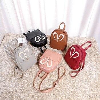 Mini Backpack Women 2019 Rabbit Ear Shoulder Bag Female Cute small Crossbody bag for Teenage Girls fashion bag pack 1