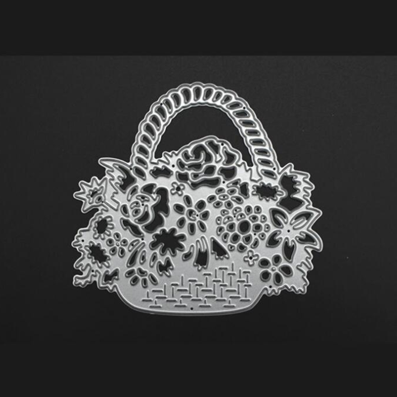 YLCD468 Flower Basket Metal Cutting Dies For Scrapbooking Stencils DIY Album Cards Decoration Embossing Folder Die Cutter Mold