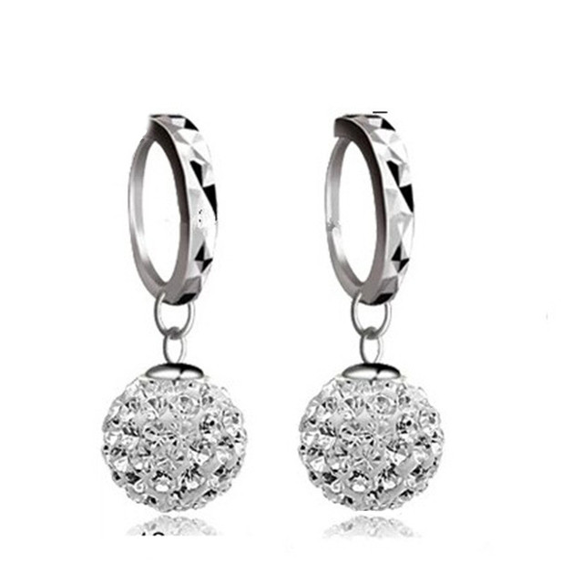 Crystals From Swarovski Ball Earrings Dangle Prevent Allergy Shambhala Spherical Drop Earring For Women Jewelry Brincos