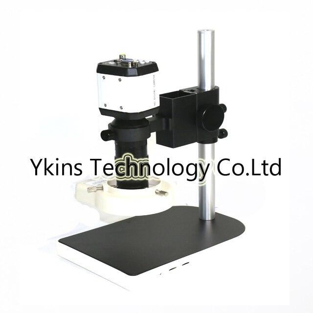 3 in1 цифровой микроскоп с камерой VGA USB CVBS ТВ выходы + 56 светодиодный кольцо свет + подставка-держатель + 8-130X C крепление объектива для PCB/лаборат...