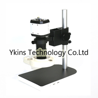 3 in1 Digital Microscope Camera VGA USB CVBS TV outputs+56 LED ring Light+stand holder+8 130X C mount lens for PCB /Lab repair