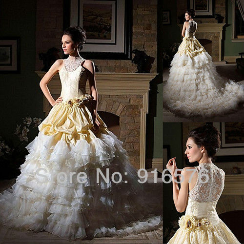 Most Beautiful Ball Gown Wedding Dresses: Most Beautiful Picture Gowns 2013 Long Train Ball Gown