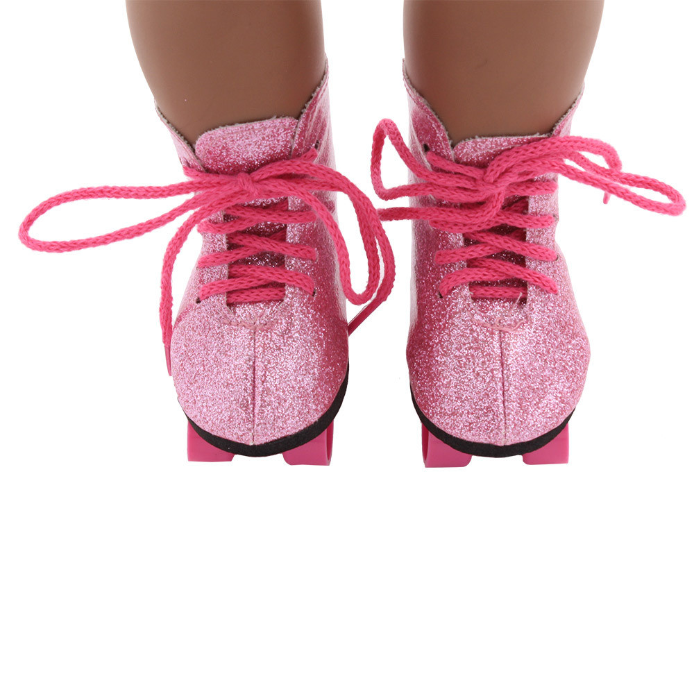 HIINST Glitter Doll Roller Skates For 18 Inch Our Generation American Girl Doll FEB7 p30 drop ship