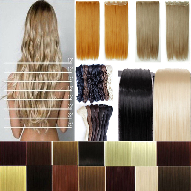 Best Quality 2666cm 145g Straight Long 5 Clips On Hair Extension