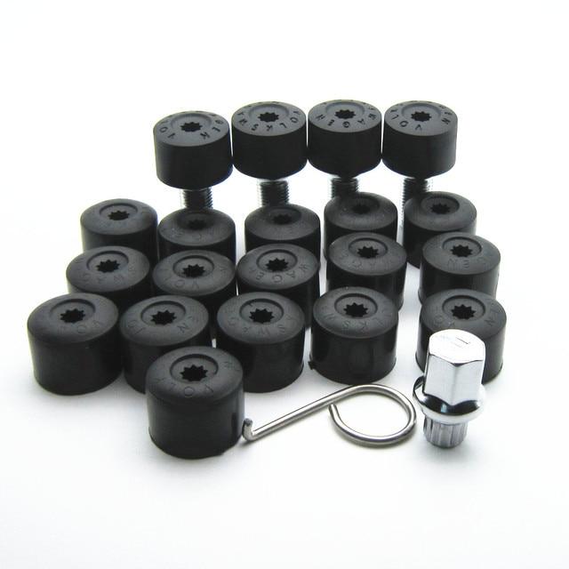 25 Pcs OEM tire anti-theft screws and screw dust cover and retractors apply to new Jetta vw Golf 6 new Magotan new Jetta vw CC