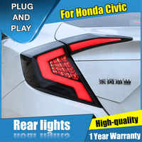 4PCS Auto Styling für Honda Civic LED Medium Netto licht 2016-2019 für Civic LED Schwanz Lampe + blinker + Bremse + Umge LED licht