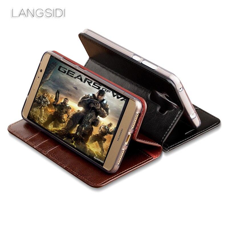 Wangcangli pour Mi Max Pro coque de téléphone huile cire peau portefeuille flip Stand titulaire fentes pour cartes étui en cuir pour envoyer un film de verre de téléphone - 6