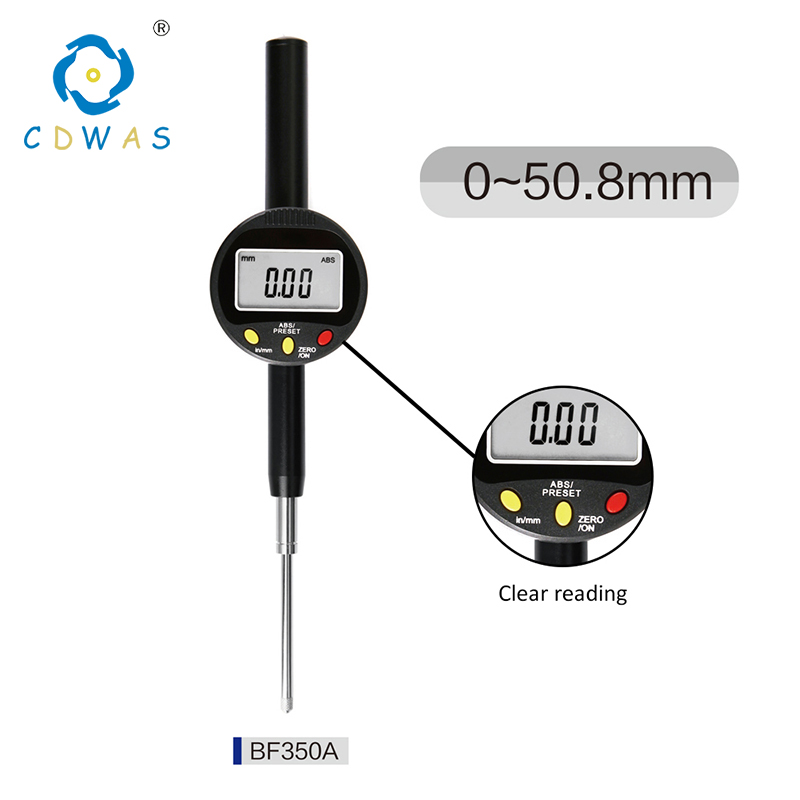 0 50 mm Digital Indicator Electronic Micrometer Digital High Precision 0 01mm Dial Indicator Gauge With Retail Box in Dial Indicators from Tools