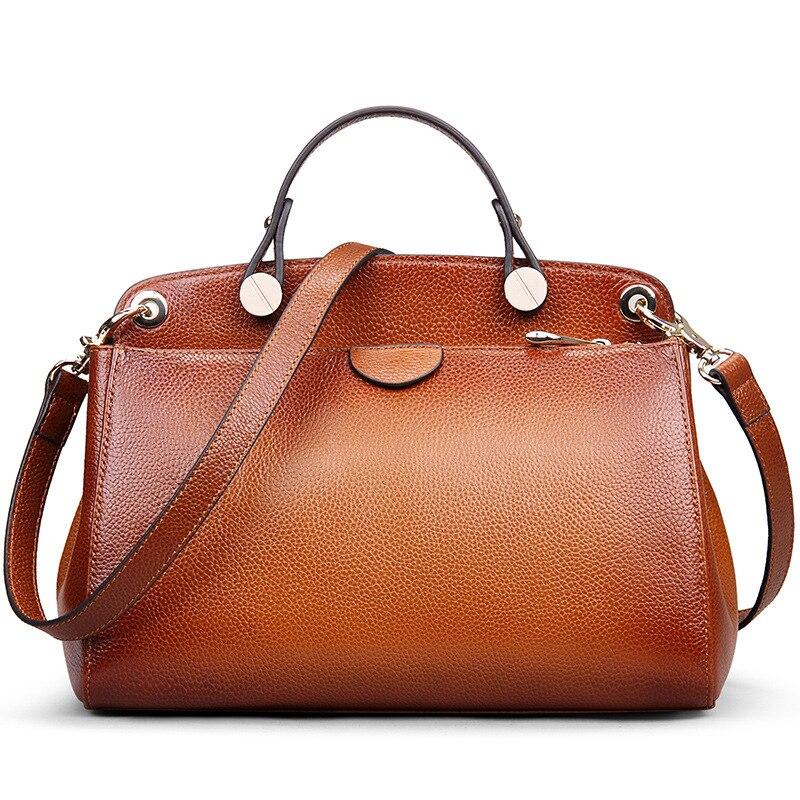 ФОТО High Quality Women Genuine Leather Handbag Brand Party Female Bag Soft Lattice Totes Shoulder Bag Women Sac
