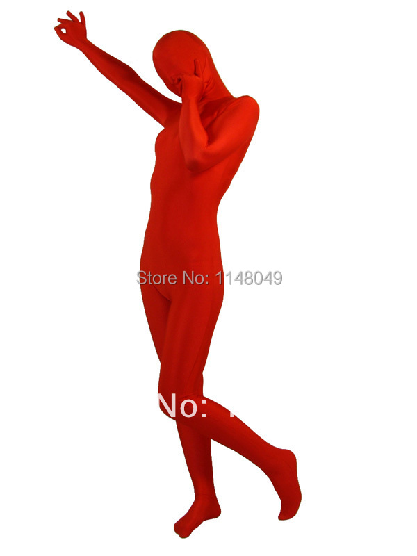 Red Spandex Full Body Zentai Suits