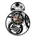 Декоративные CD записи светодиодные часы Звездные войны BB-8 Droid винтажные виниловые LP запись настенные часы креативные Висячие часы