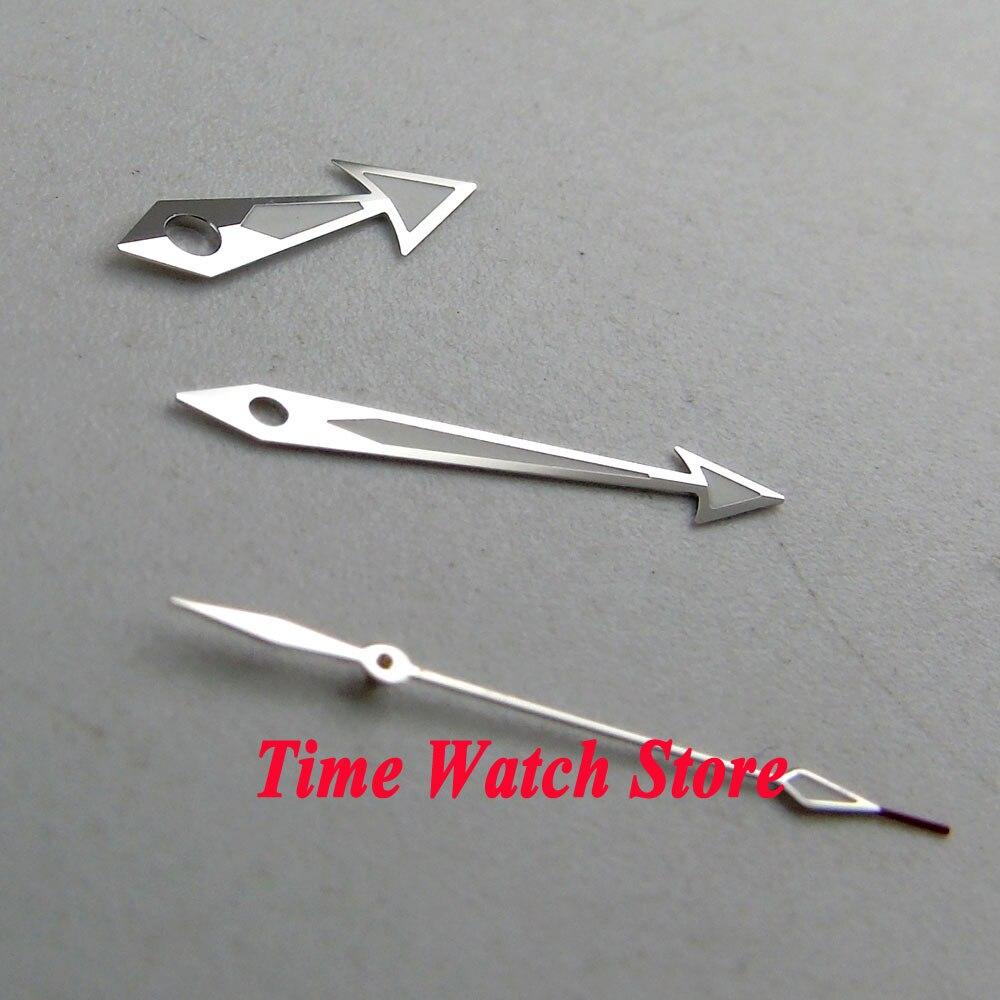 Relógio de Prata Apto para Miyota Luminosa Mingzhu 2813 3804 Movimento Automático H53 Mão 8215 8205 821a
