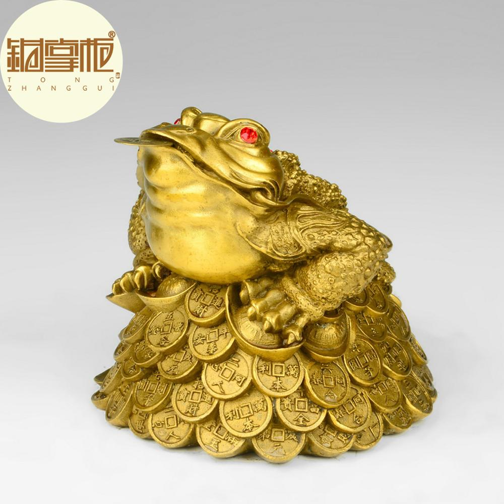 The copper toad lucky decoration three foot toad cicada for Decoration feng shui chambre