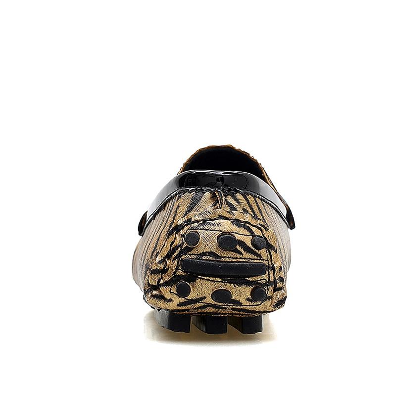 Mâle Chaussures Hommes Automne Slip Or En Printemps Décontractée Mocassins Mariage De Sur Cuir Loveontop Plat Leopard Fringe argent Partie x0BwaB