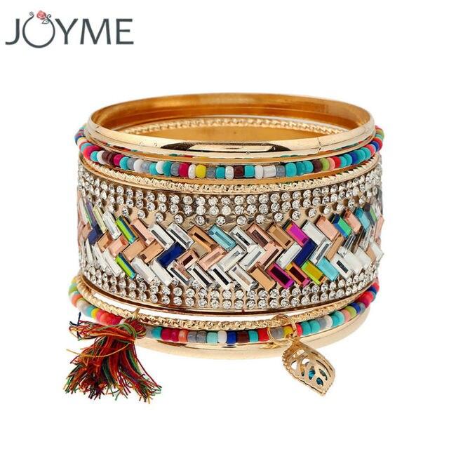 Joyme Brand Bohemia Boho Beach Style Multi Layered Bracelet Bangles For Women Tel And
