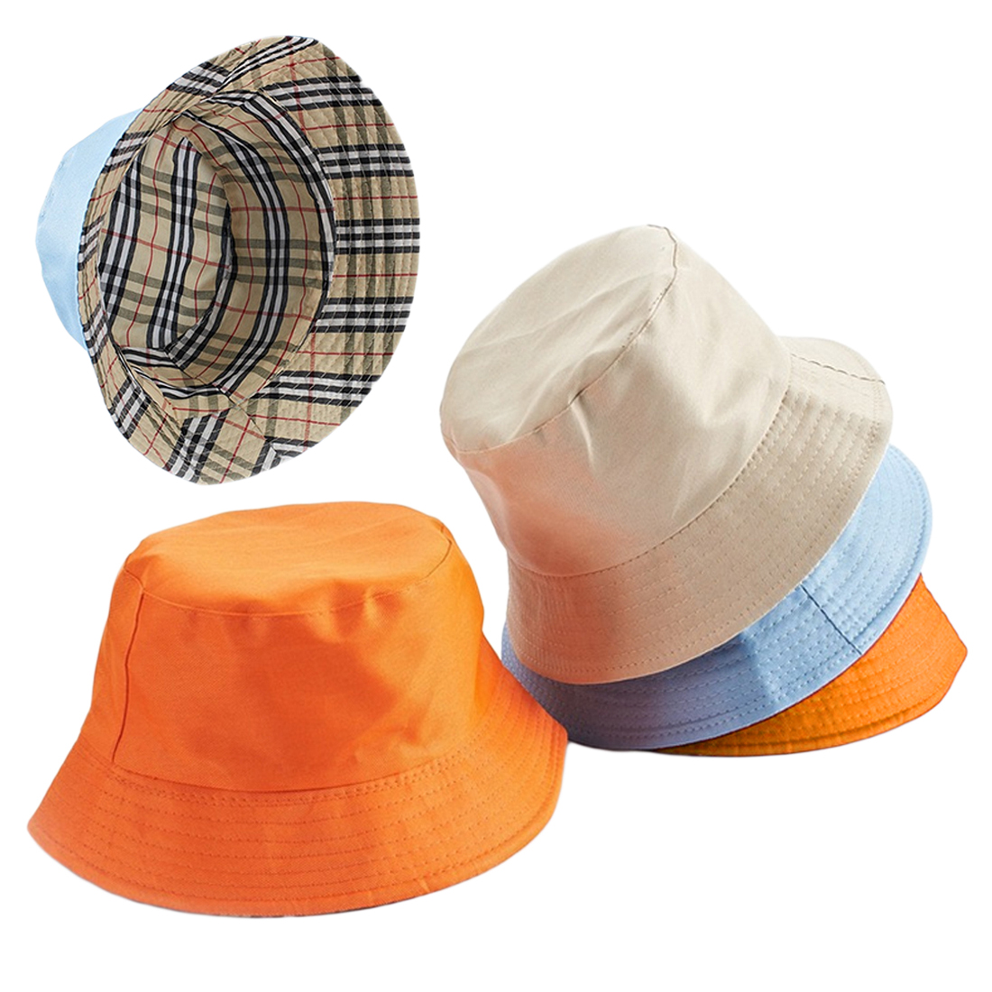 Fashion Sunscreen Men Women Bucket Hat High Quality Cotton Simple Caps Summer Autumn Solid Color Fisherman Panama hats