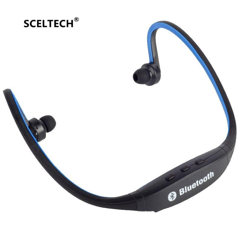 SCELTECH S9 Original Sport Wireless Bluetooth Headset Handsfree Earphones Running Stereo Headphones For iPhone XiaoMi Huawei
