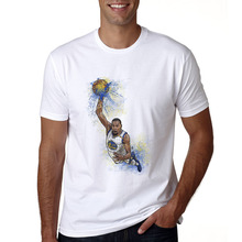 368079cc6a09 Newest Kevin Durant T Shirt O-Neck Casual White Printing T-shirt Summer Cool