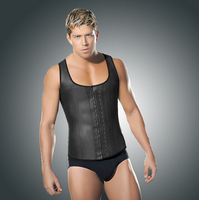 Waist Training Corsets For Men Faja Hombre Plus Size 6XL Mens Bodysuit Latex Waist Trainer For