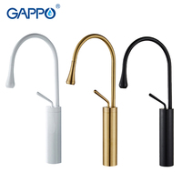GAPPO gold BASIN  faucets  basin Black bathroom faucet for mixer tall taps waterfall mixer single hole sink faucet torneira