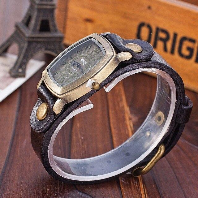 Fashion Vintage Cow leather Bracelet Watches Casual Women Wristwatch Luxury Quartz Watch CCQ Brand Relogio Feminino Gift