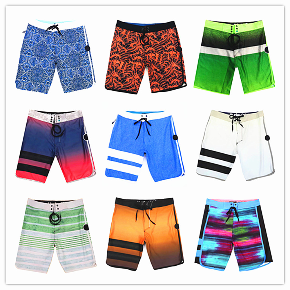 2019 Brand Phantom Boardshorts Man Swimwear Elastic Men 100% Quick Dry Male   Board     Short   Sexy Couple   Shorts   Mens Hawaiian   Shorts