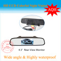 "Free shipping ,NEW 4.3"" inch TFT Car LCD Mirror Rear View Rearview DVD Mirror Monitor for car CCD camera"