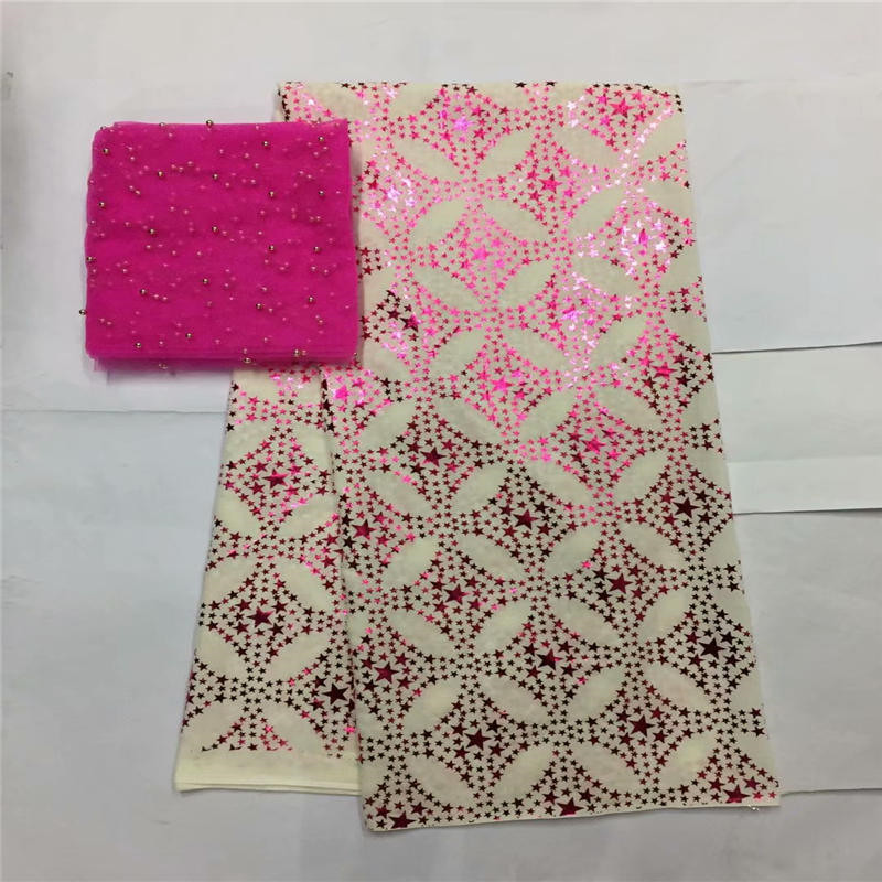 LX!African Lace Fabric 2019 fuchsia High Quality Lace Tulle Lace Fabric African French Net Lace Fabric For Dress ! L10429