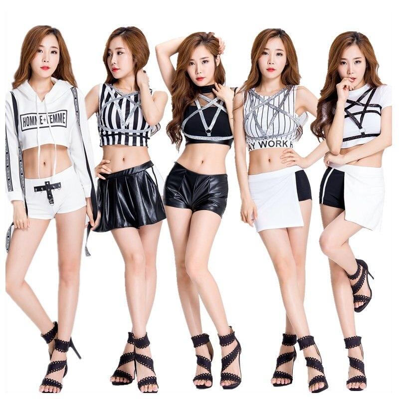 Cheerleading Uniforms Football Girl Hip Hop Clothing Women Super Star Ladies Girls Bling Bling Suits High School Students Shorts girl