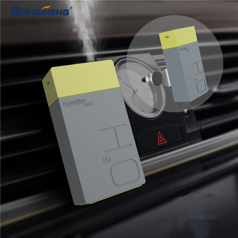 BOMEINENG 150 ML recargable USB humidificador de aire del difusor de aceite esencial Aroma coche humidificador ultrasónico fabricante de la niebla para Magnet