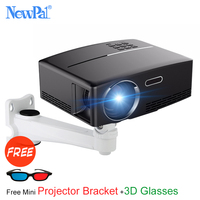 Newpal 1800 Lumens 4K Projector Android 6 0 LED WiFi Video Proyector GP80 UP Portable Smart