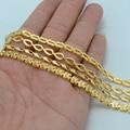 4 Estilo/Cada $4.87/Etíope Oro Collares para Las Mujeres Collares de la Joyería de la Cadena de Oro de África Entre Eritrea Y Etiopía #013606