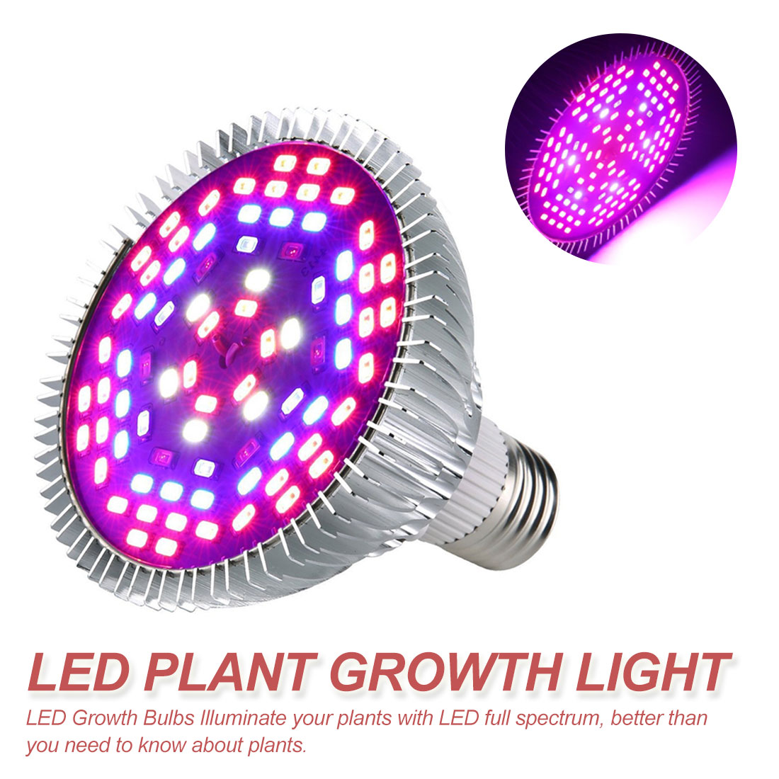 Full Spectrum E27 220V LED Plant Grow Light Bulb Fitolampy Phyto Lamp For Indoor Garden Plants Flower Hydroponics Grow Tent Box