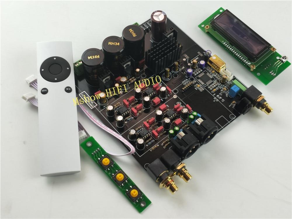 NOUVEAU hifi HAUT ES9038 ES9038PRO DAC décodeur assemblé conseil + TCXO 0.1PPM + télécommande + option USB XMOS XU208 ou Amanero