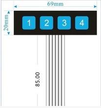 5 шт. 1 ряд 4 кнопочный переключатель/матричная клавиатура/панель управления пленкой микрокомпьютер Расширенная клавиатура для Arduino