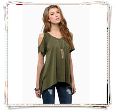 off shoulder t shirt