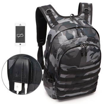 Game PUBG Backpack Men School Bags Mochila Pubg Battlefield Infantry Pack Camouflage Travel Canvas USB Charging Knapsack Cosplay game pubg playerunknown s battlegrounds cosplay costumes props first aid packet pen camouflage bag