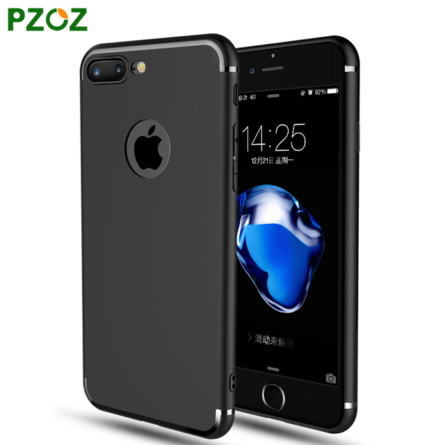 PZOZ For iphone 7 Case Silicone Cover For iphone 7 Plus Transparent Color Slim Phone Protection Soft Shell For iphone 6 Plus 5 4