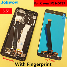 С отпечатков пальцев 5,5 «ЖК-дисплей для xiaomi mi note3 Примечание 3 ЖК-дисплей Дисплей + Сенсорный экран Замена аксессуары для телефона xiaomi note3