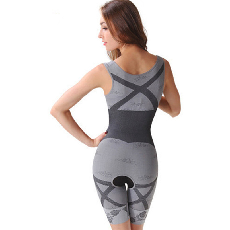 2019 NEW Women Slimming Bamboo Charcoal Thermal Body Shaper Full Body Control Bodysuit Sports Bras #3J07 (5)