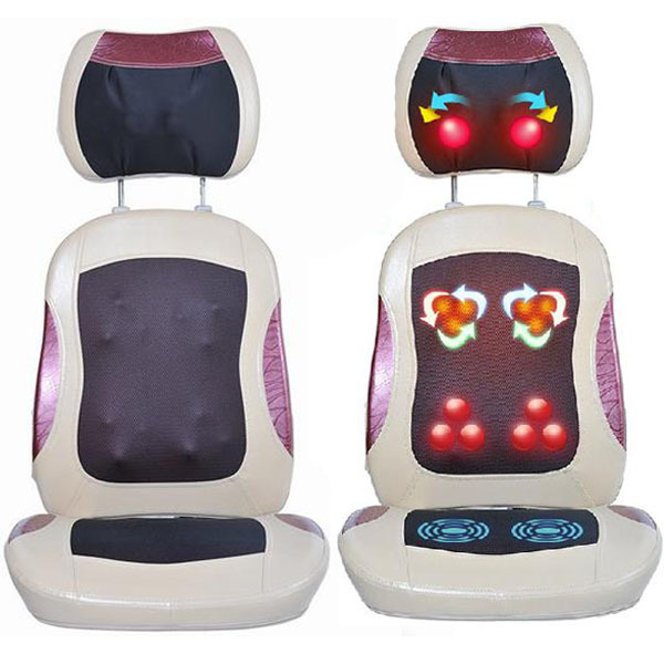 good quality newest electric neck shoulder massager tapping massage chair massage cushion for sale free shipping - Massage Chairs For Sale