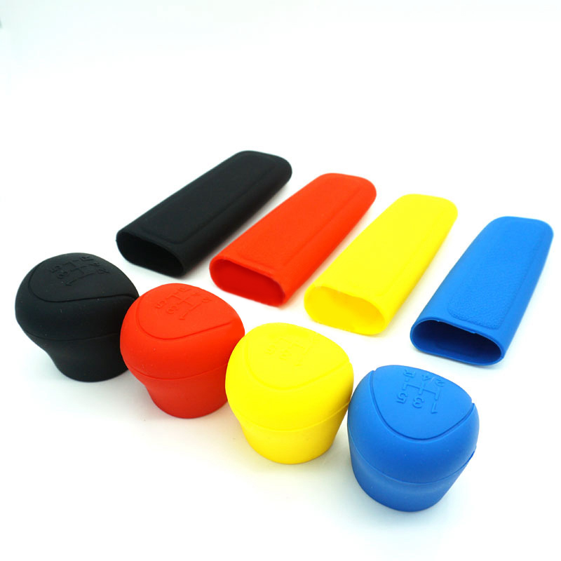 Universal Car Hand Brake Cover Gear Head Shift Knob Protector Cover