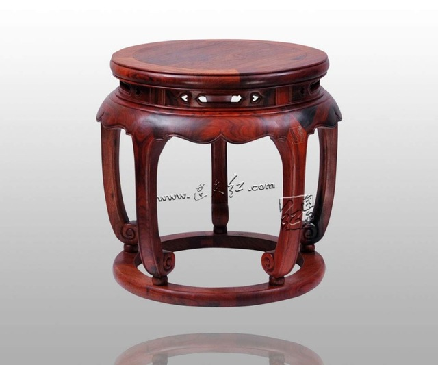 Chinese Artsu0026crafts Burma Rosewood Round Bench Home Decoration Antique  Furniture Living Room Low Shoes Stool Burmese