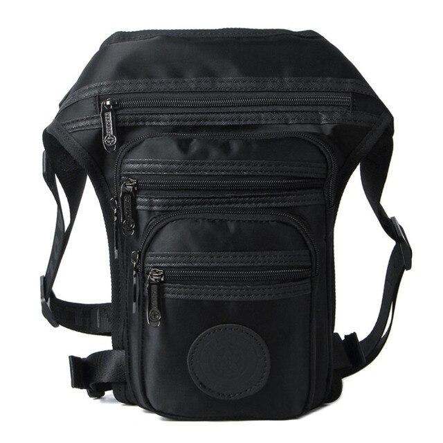 New Men Canvas/Waterproof Nylon Leg Bag Waist Fanny Pack Drop Belt  Messenger Shoulder Riding Travel Trend Male Motorcycle Bags
